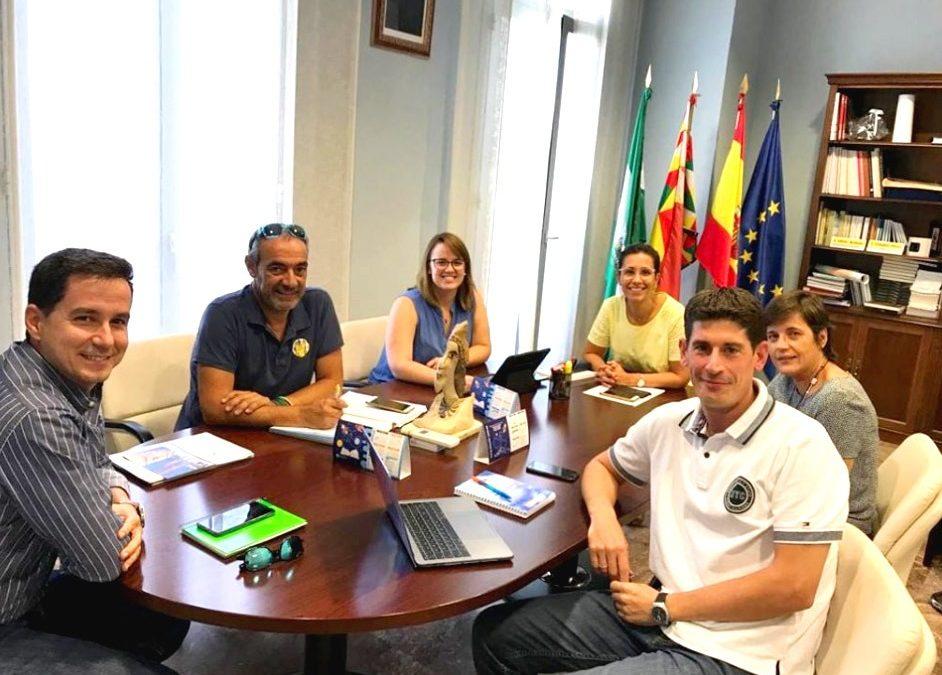 Presentamos los proyectos aprobados Erasmus+ al Ayuntamiento de Cabra
